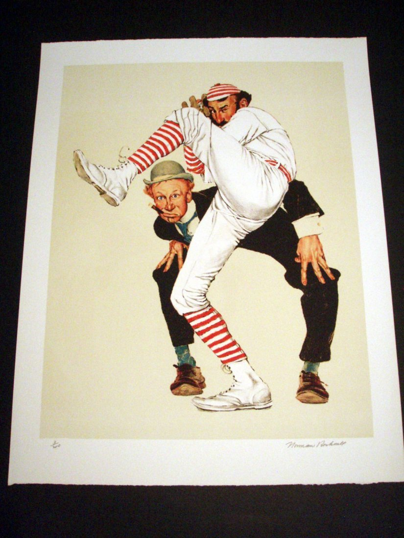 Norman Rockwell Signed Wind Up Lithograph