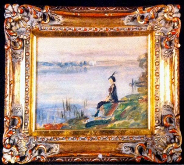 Emile Delobre Impressionism Oil on Board