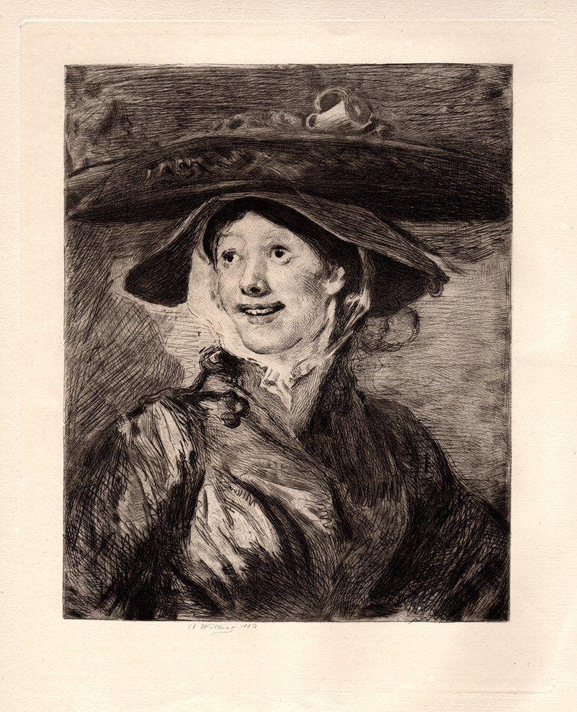 "Willaim Hogarth ""A Shrimp Girl"" etching"