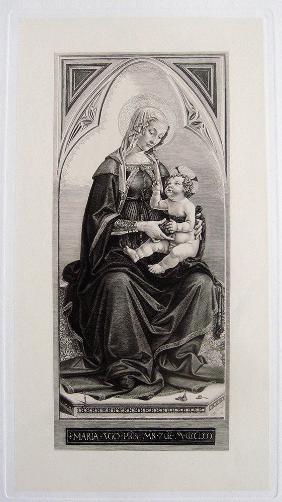 Fiorenzo di Lorenzo Madonna and Child etching