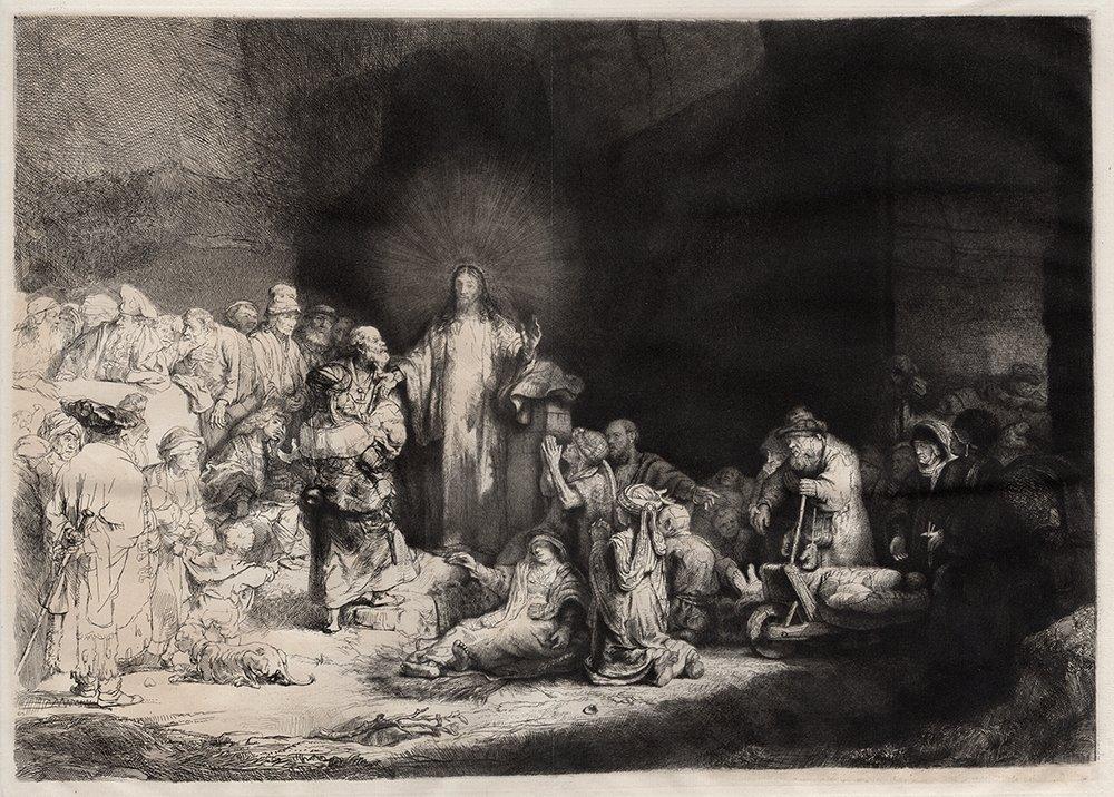 Rembrandt etching Hundred Guilder Durand Orig