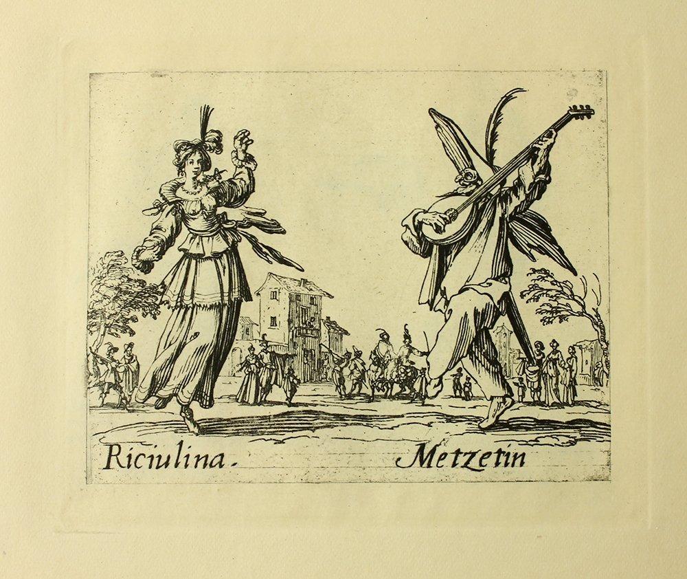 "Jacques Callot ""Riciulina"" engraving"
