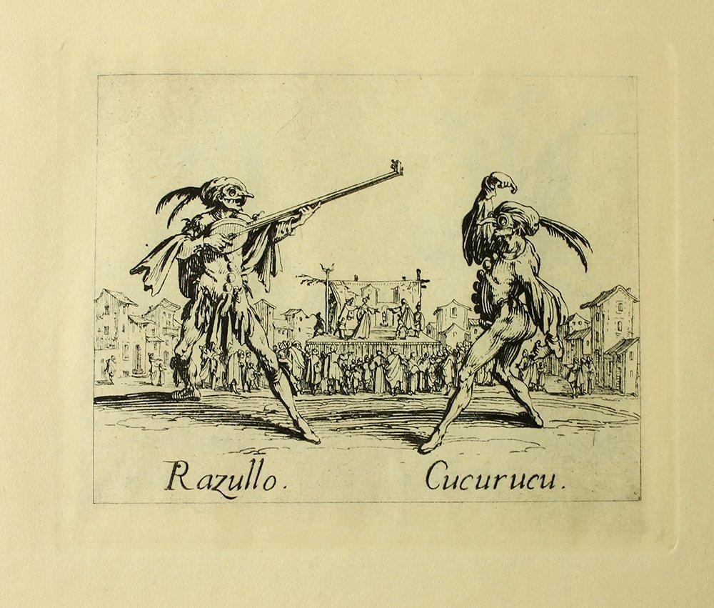 """Jacques Callot """"Razullo"""" engraving"""