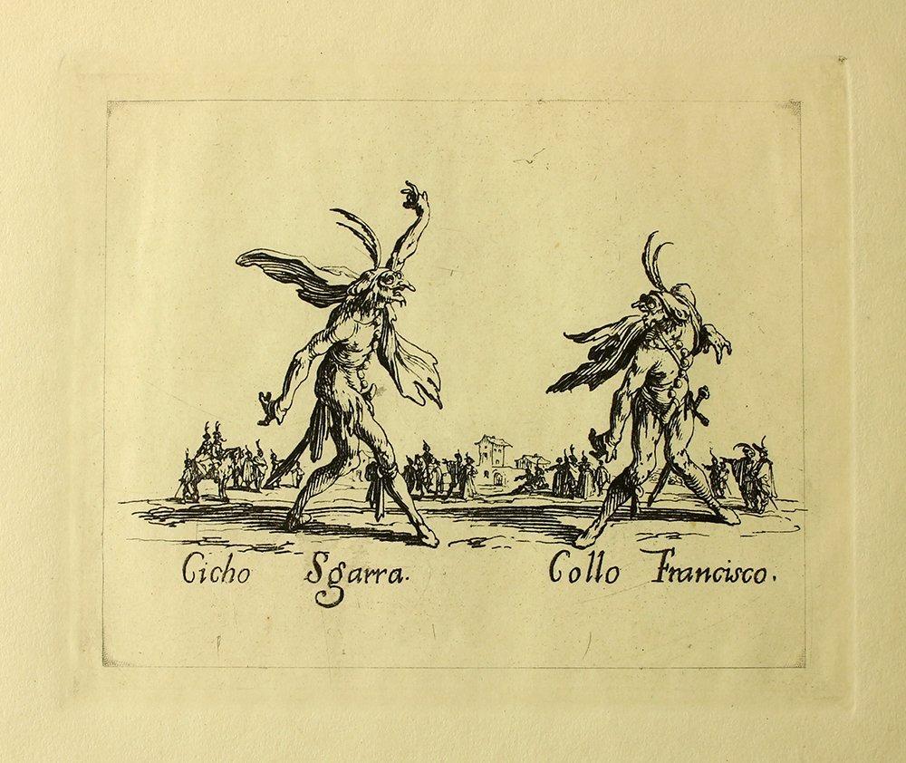 """Jacques Callot """"Ccho Sgarra"""" engraving"""