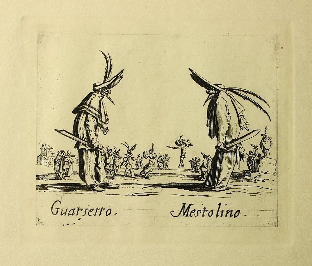 """Jacques Callot """"Guatsetto"""" engraving"""