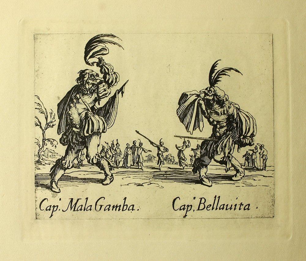 """Jacques Callot """"MalaGamba"""" engraving"""