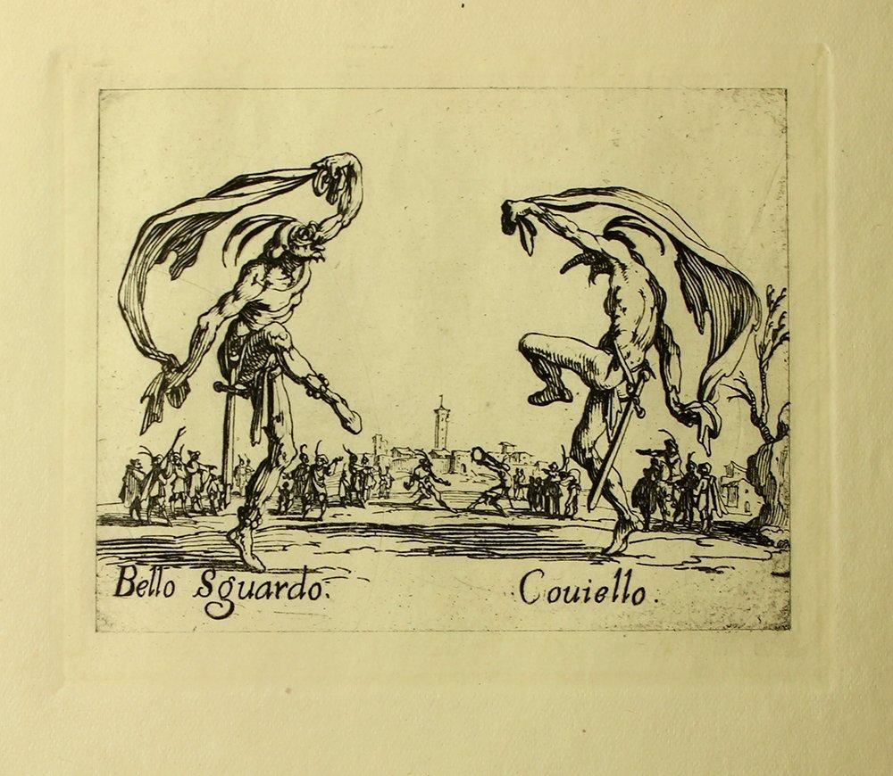 """Jacques Callot """"Bello Sguardo"""" engraving"""