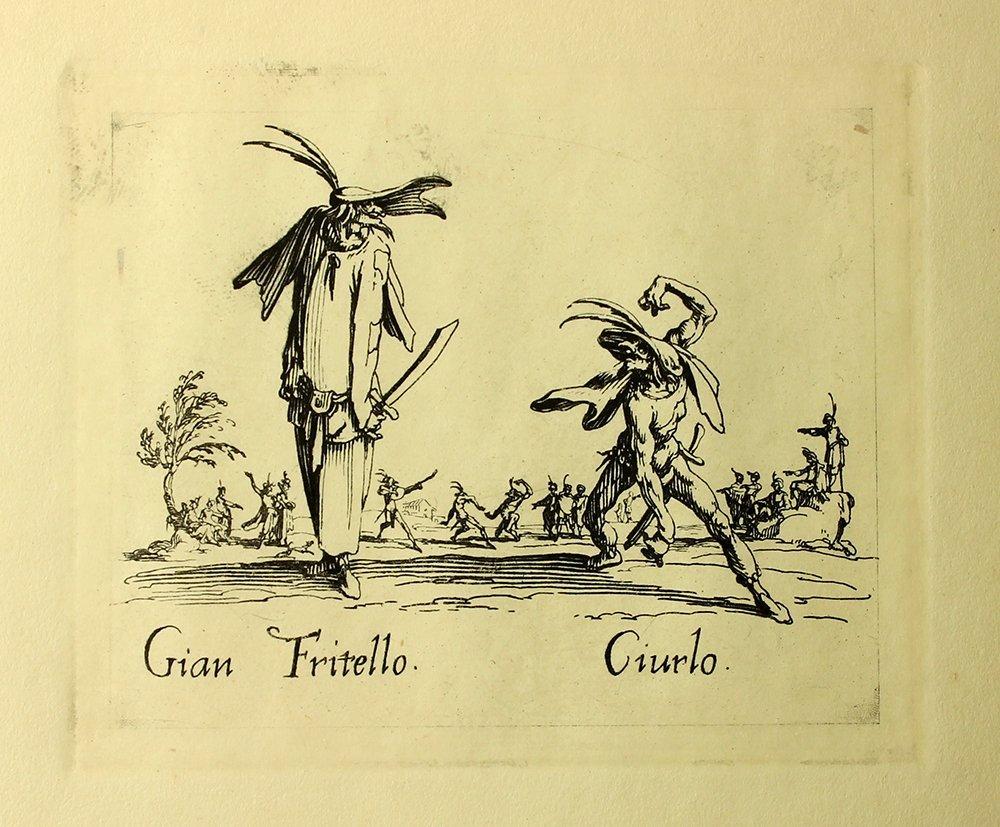 "Jacques Callot ""Gian Fritello"" engraving"