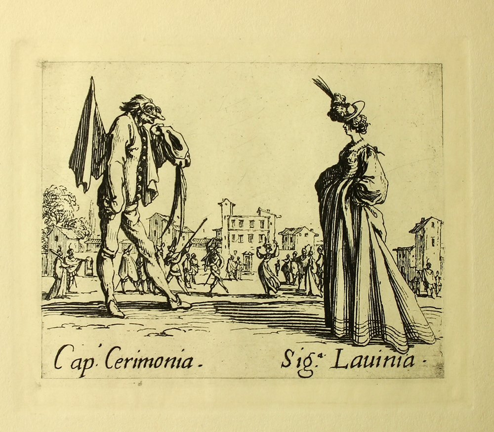 "Jacques Callot ""Cerimonia"" engraving"