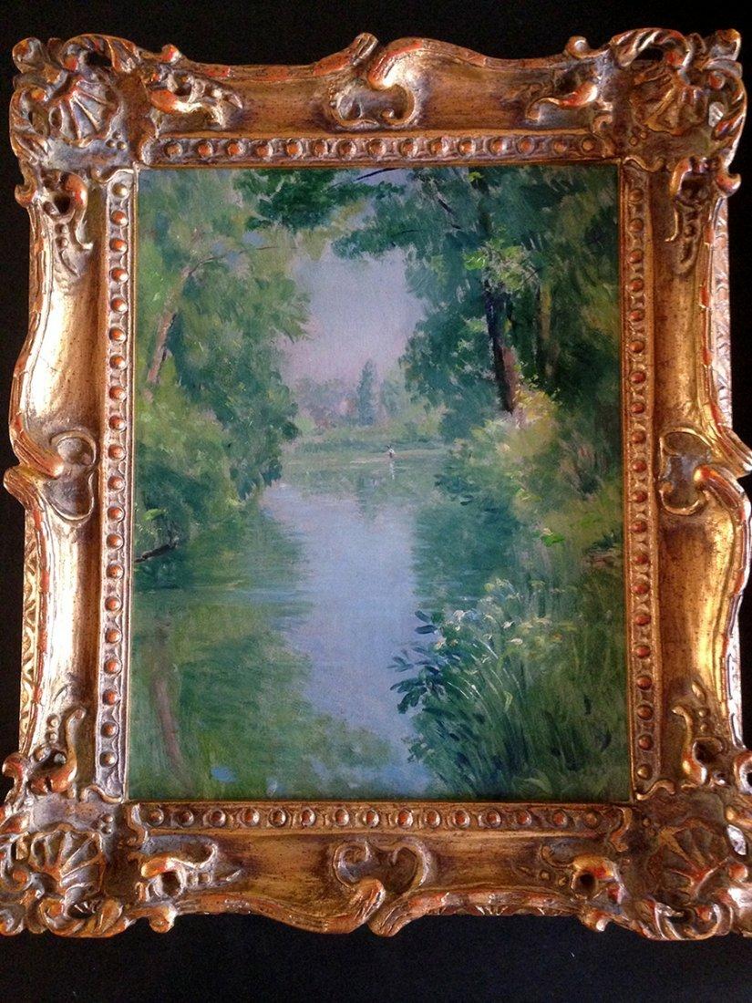 Emile Delobre Impressionism Landscape Oil