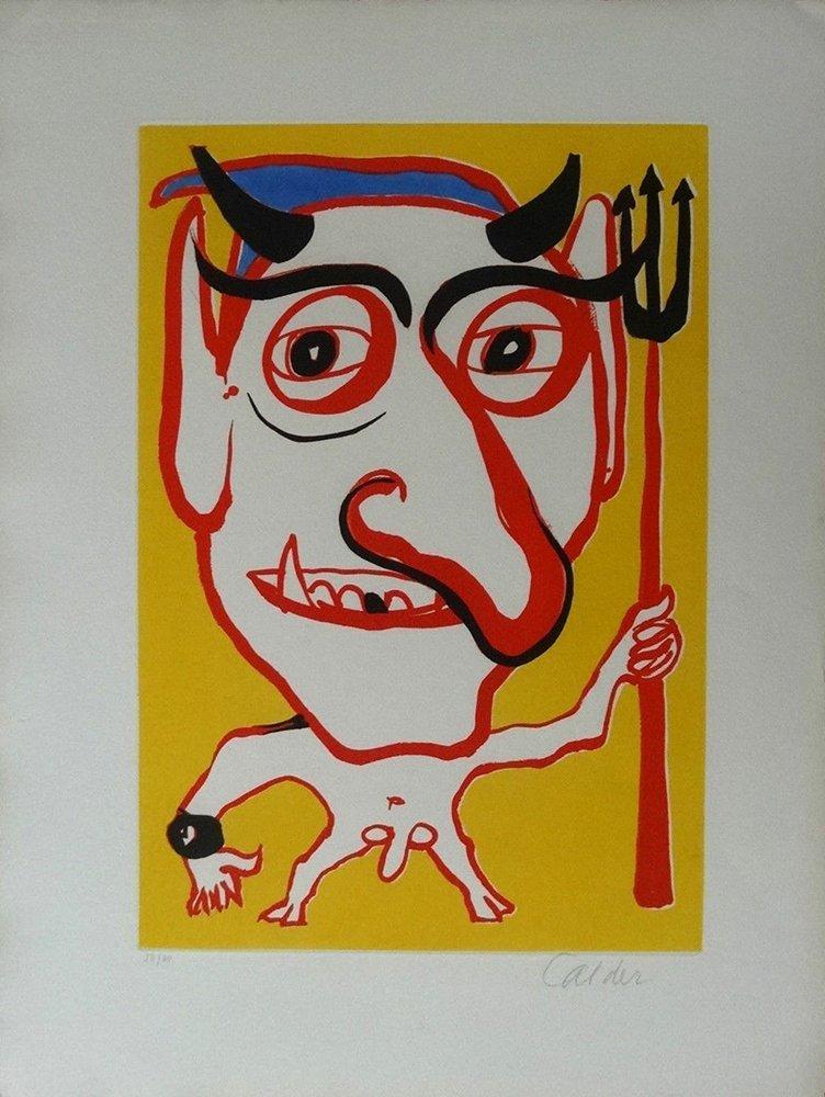 Alexander Calder Signed Aquatint Etching