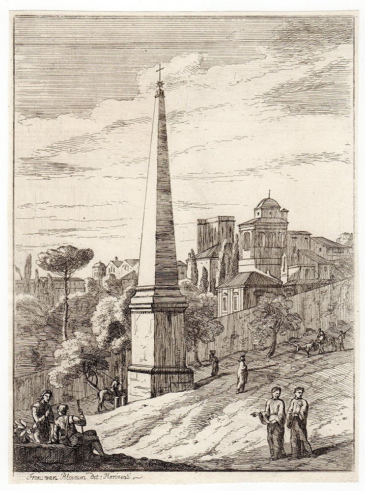 Jan Frans van Bloeman Original 1701 MONUMENT Etching
