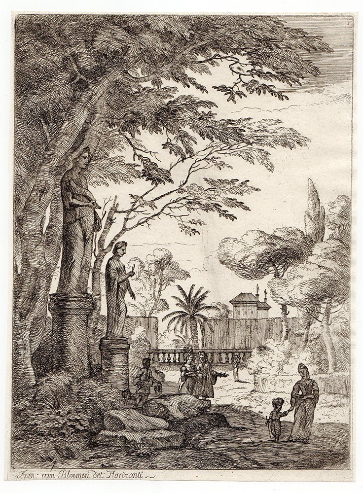 Jan Frans van Bloeman Original 1701 VILLAGE Etching