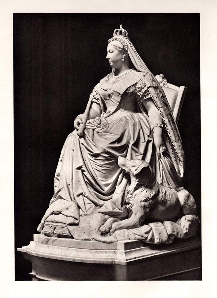 "Boehm ""Statue of Queen Victoria"" 1880s Antique Print"
