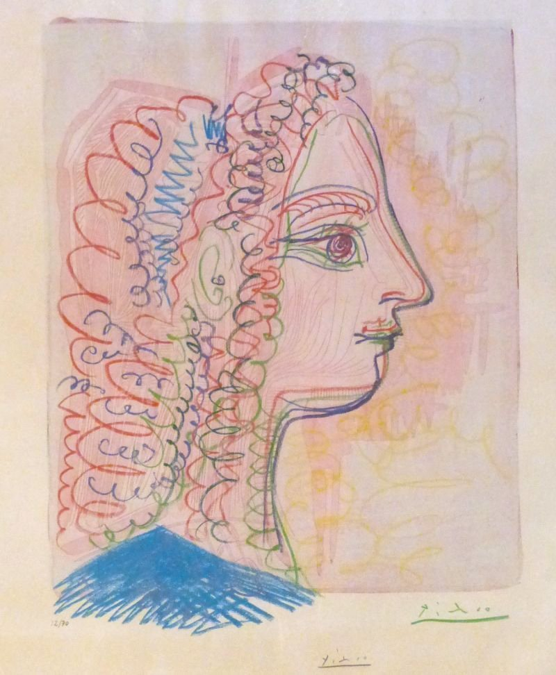 Picasso 1971 Hand Signed and Numbered 12/70 Lithograph