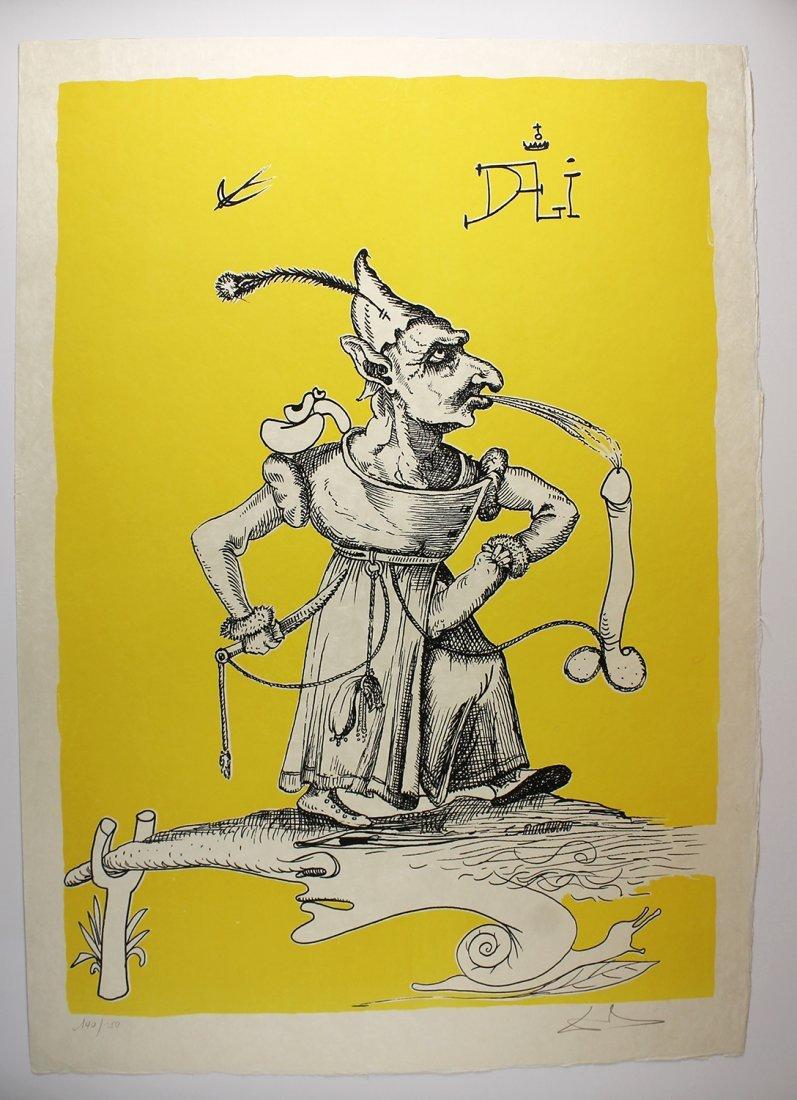 1973 Salvador Dali Original Color Lithograph Pantagruel