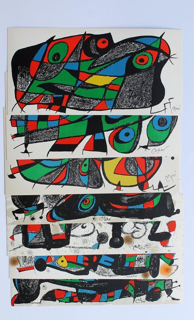 1974 Miro Seven Original Stone Lithographs Escultor