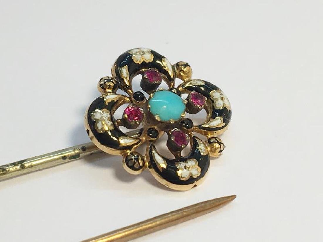 A pair of Victorian Stick Pins, including a stick pin - 3