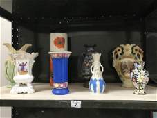 A quantity of vases including oriental style and