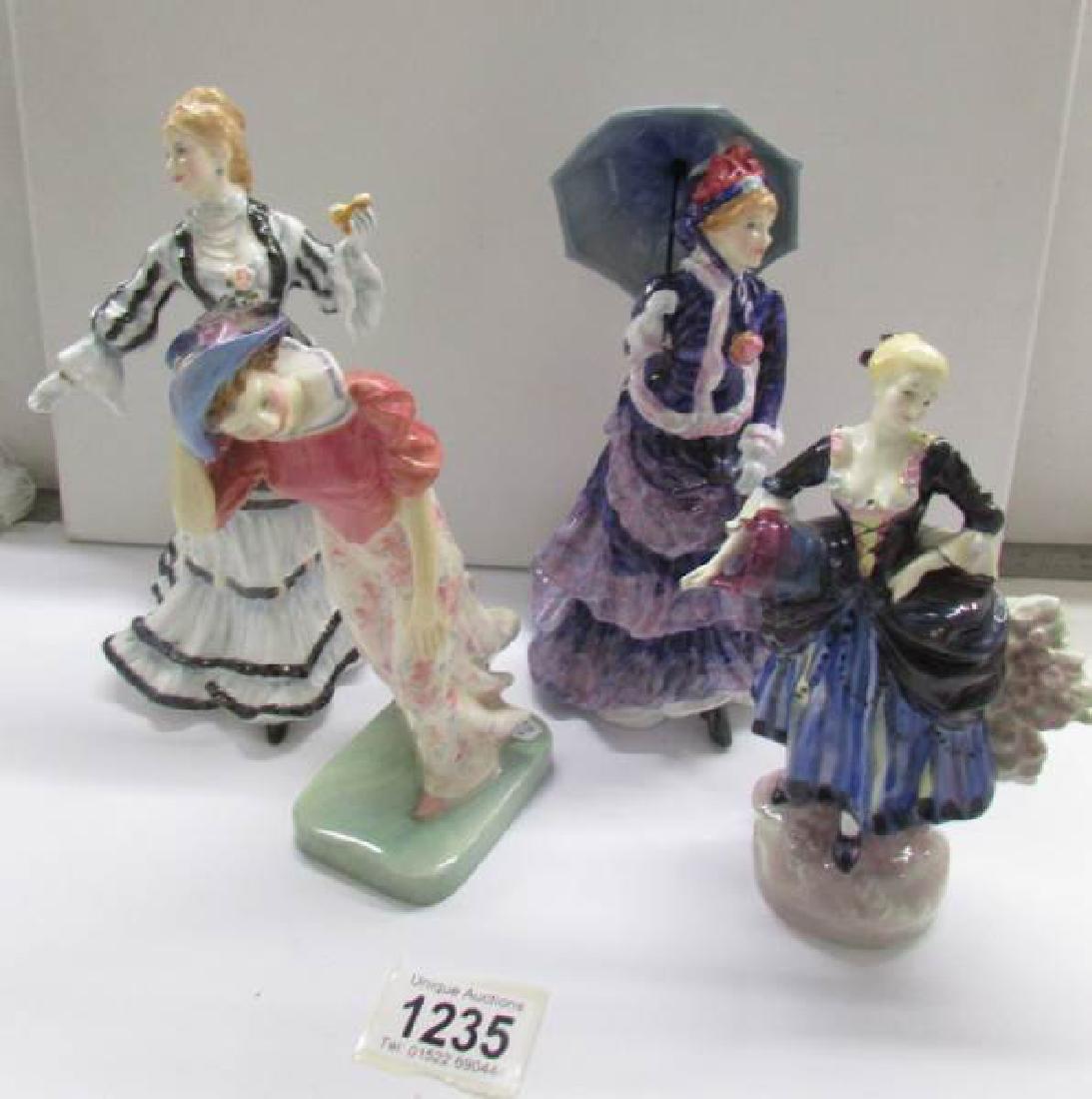 4 Royal Doulton figurines being Shepherdess HN735
