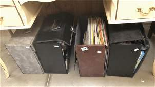 4 cases of LP records