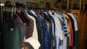 A large quantity of shirts, suits etc.
