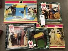 5 Pedigree Sindy boxed sets - including horse, wagon,