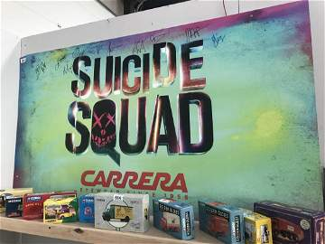 A DC Suicide Squad carrera promo poster signed by 11