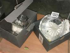 2 boxed Waterford crystal bowls.