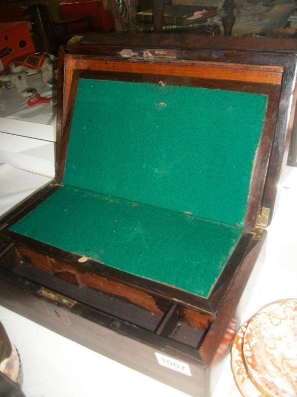 A Victorian writing box