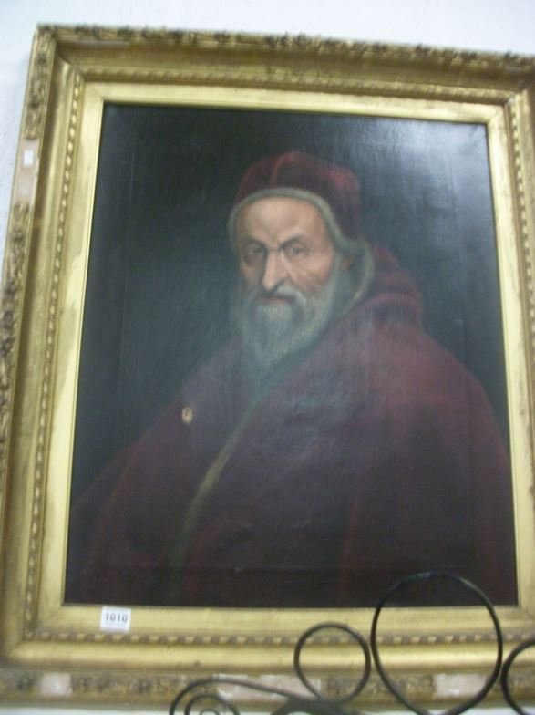 A 19th Century oil on canvas portrait (Bishop or Cardin
