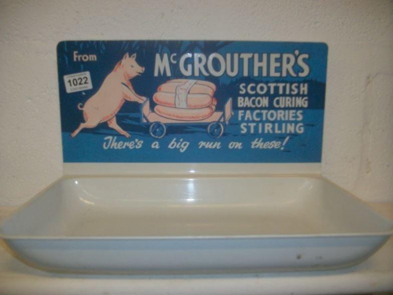 A 1960's McGrouthers, Stirling butchers shop window sau