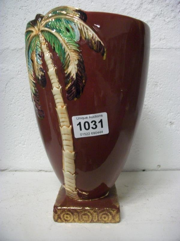 A Beswick palm tree vase, a/f