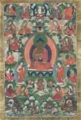 Thangka depicting Sakyamuni