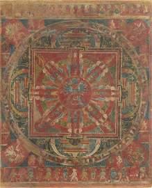 Mandala dedicated to Cakrasamvara