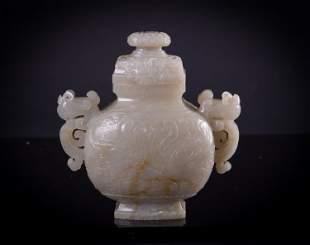 A white jade amphora