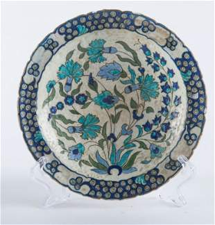 An Iznik-style Lachenal plate