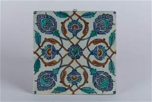 An Iznik-style tile