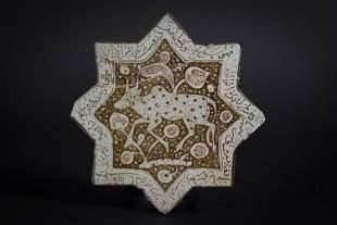 An eight-point star tile