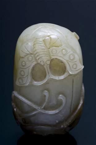 A jade snuff bottle