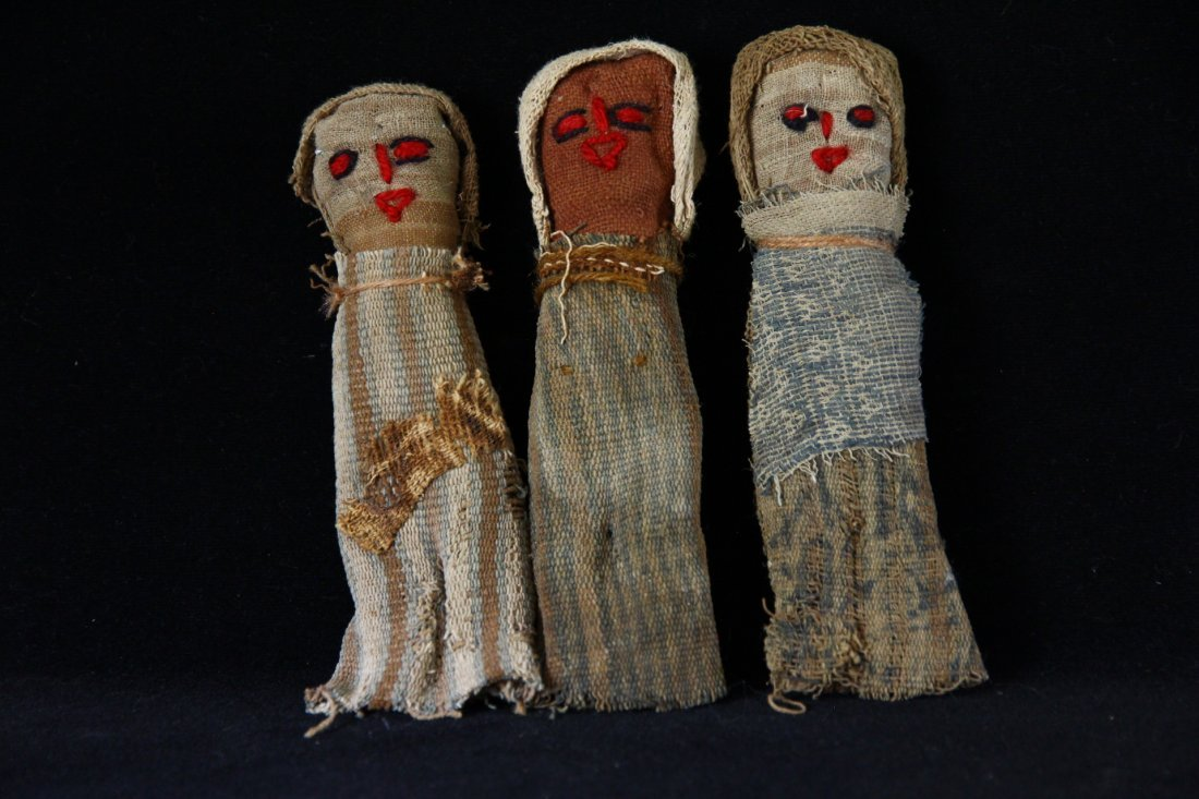 Pre Columbian Chancay Dolls Group of 3