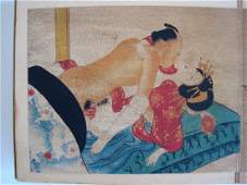 Japanese Shunga 10 Erotic Paintings Album