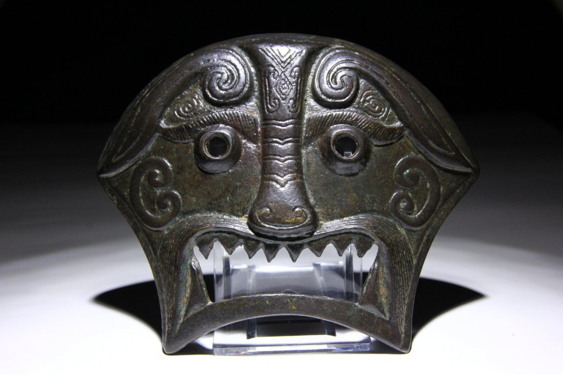 Chinese Yuan Dynasty Bronze Horse Belt Fitting