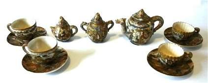 Japanese Meiji Kyoto Satsuma Tea Set