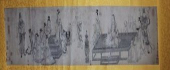 Chinese Scroll with Buddhas