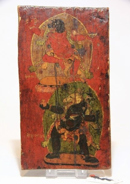 Tibetan 18th C Panel with Bardo Deities