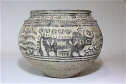 Near Eastern Central Asian Large Vessel with Bulls