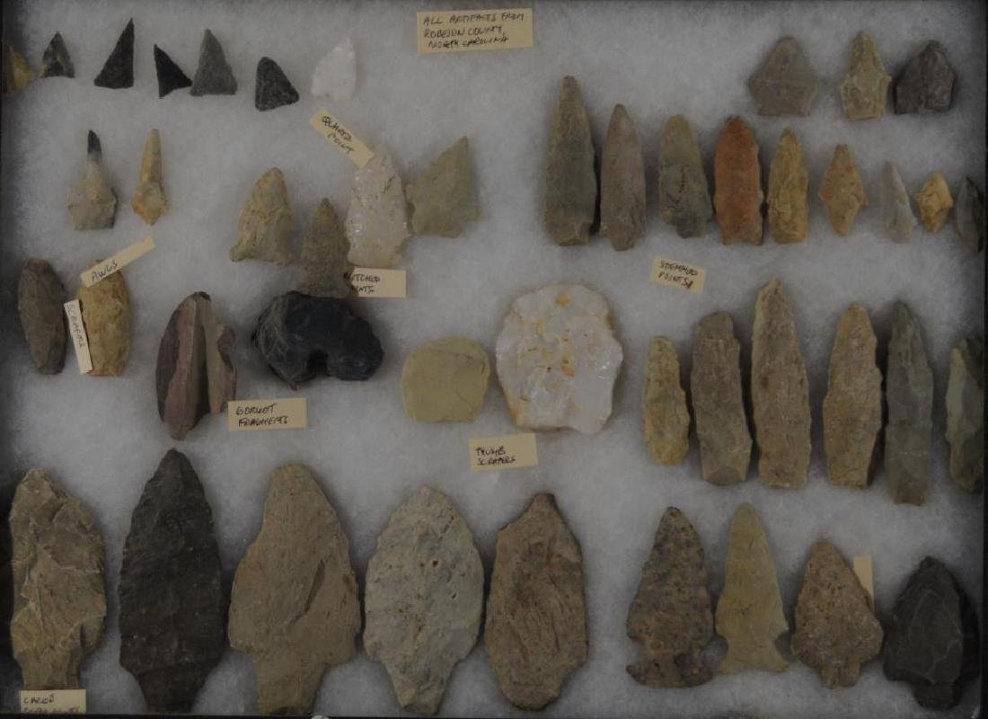 LOT OF 46 STONE ARTIFACTS COLLECTION OF SURFACE