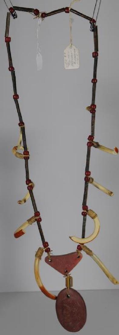 "MESQUAKIE NECKLACE SAC & FOX, 38"" LONG, COPPER"