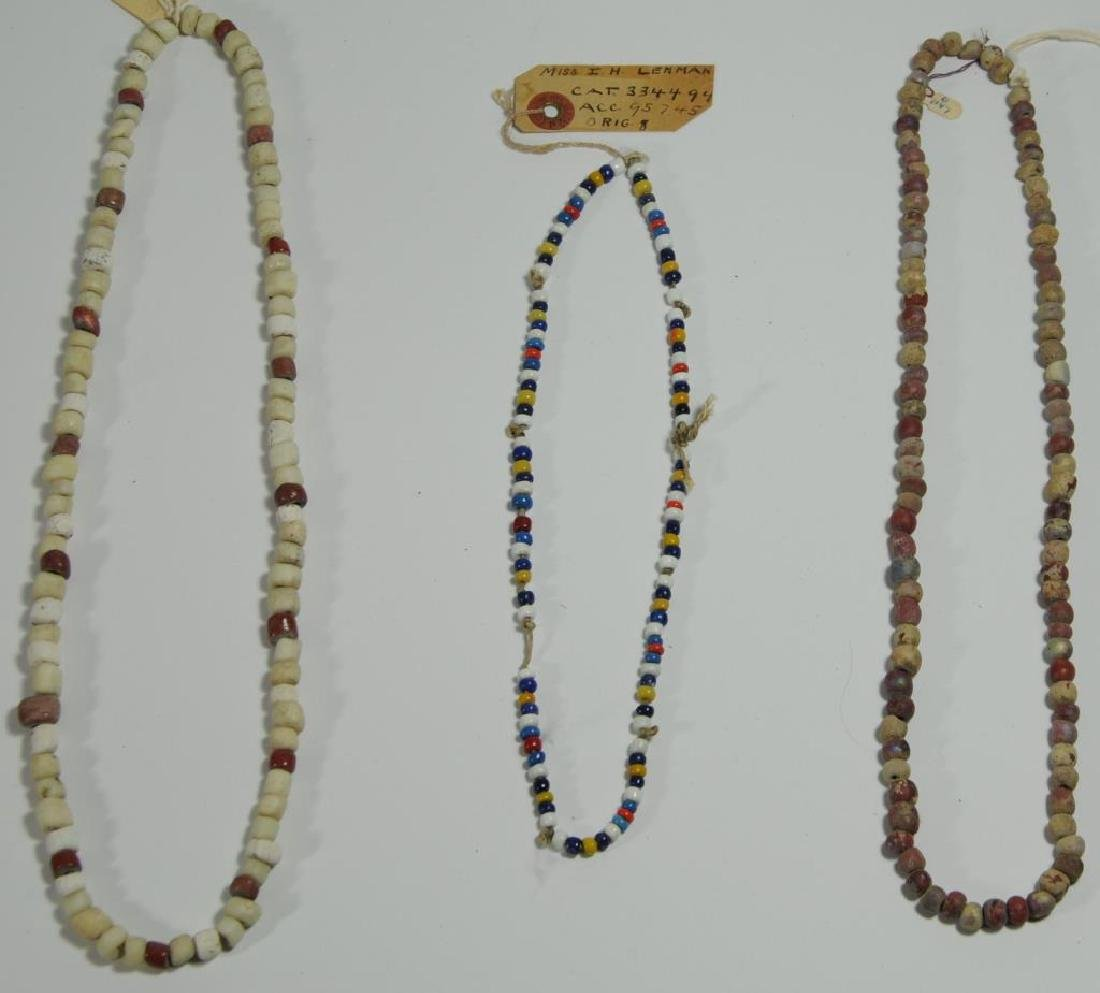 LOT OF 3 STRANDS OF IROQUOIS BEADS TO INCLUDE